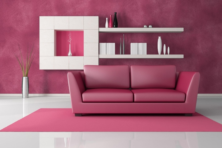 Cat Rumah Pink Magenta