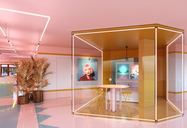 Warna Warni Desain Hotel Paradiso Ibiza Art Spanyol